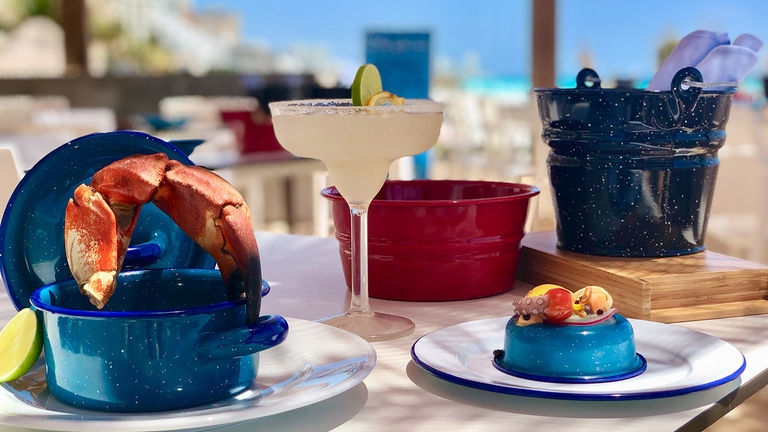 Dine on seafood alfresco with views of the Caribbean Sea.