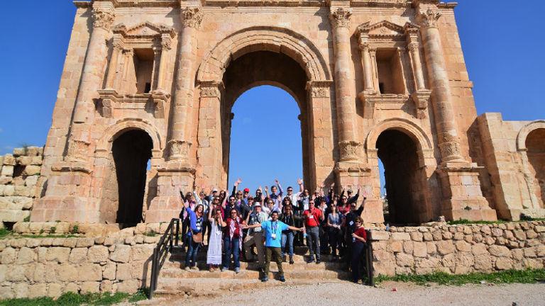 The Tourism Cares delegation visited Jerash. // © 2018 Tourism Cares