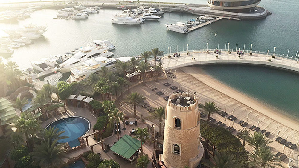 Four Seasons Hotel Doha faces the Arabian Gulf, and its newly opened Nobu Doha is located on the hotel's private marina. // © 2015 Valerie Chen