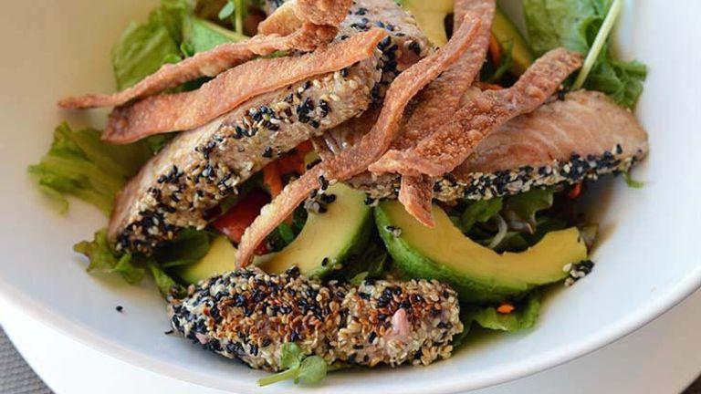 The writer's favorite dish was the fresh ahi tuna salad. // © 2015 Valerie Chen