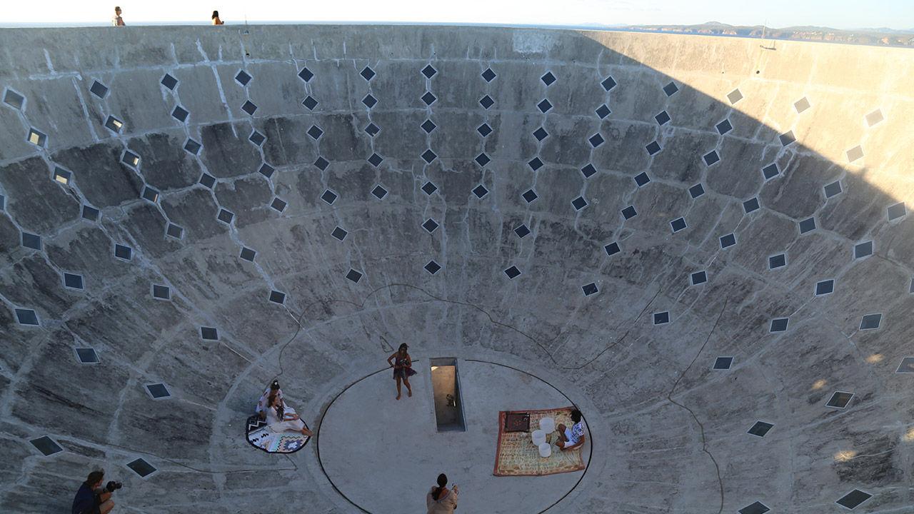 The Copa de Sol can be used for sound bath meditations led by Niki Trosky, Careyes' yoga teacher.