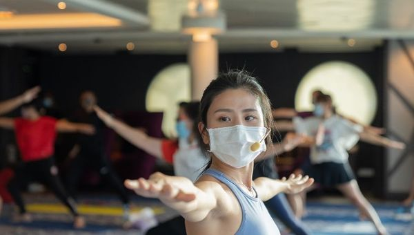 Some 60 passengers joined for two special classes hosted by local fitness influencer Coffee Lam in August.