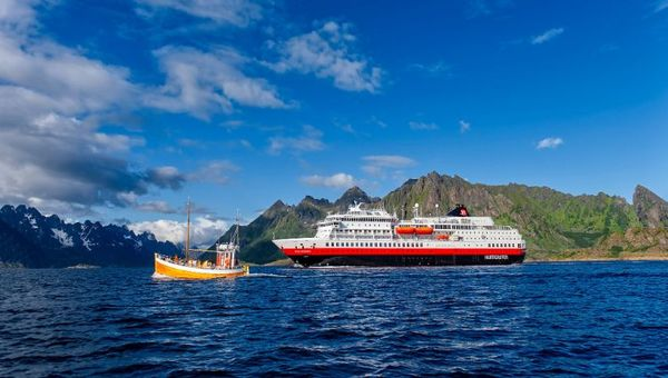 The Otto Sverdrup is Hurtigruten's third battery-hybrid powered ship.