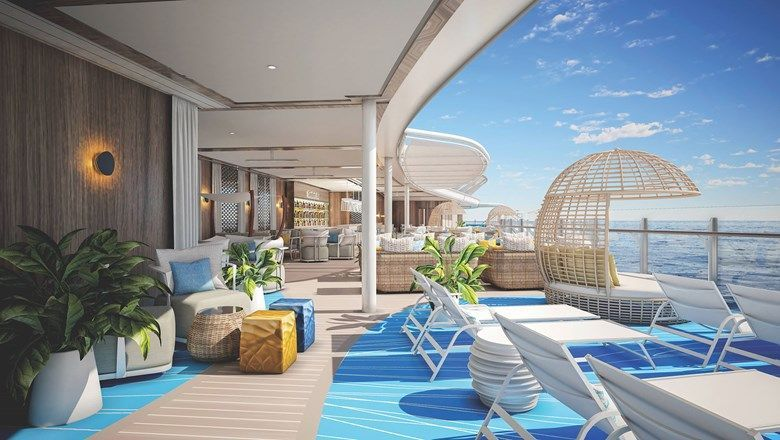 The Wonder of the Seas' Suite Neighbourhood will have an elevated Suite Sun Deck with a plunge pool, bar, loungers and nooks.