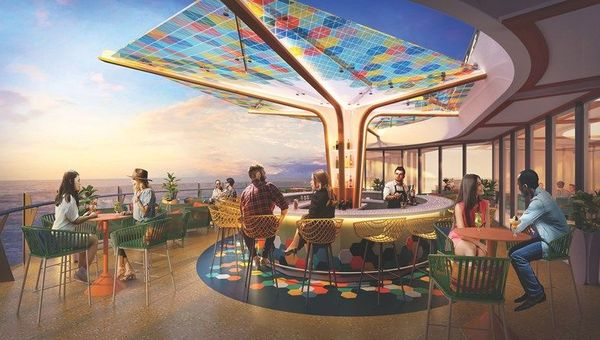 The Vue will be a cantilevered bar high above the pool deck.