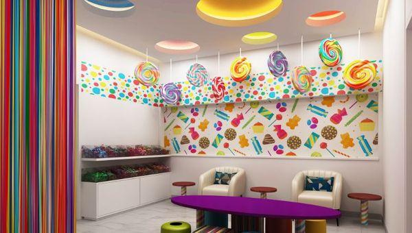 The Centara Mirage Beach Resort Dubai's candy-themed children's spa.