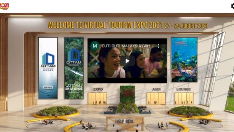 DiTTAM's new Virtual Tourism Expo was an attempt to get industry players fully embrace digital technology to conduct business. Pictured: A screenshot of what show attendees see.