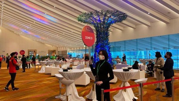 PCMA delegates were free to network and move within limits – you cannot co-mingle across different zones.