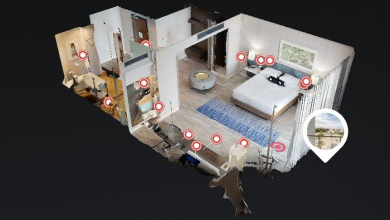 Dollhouse view of the IHG voice-controlled Smart Room.