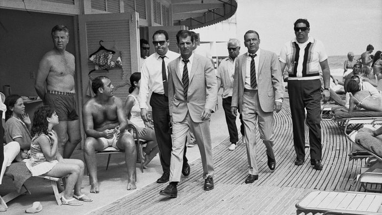 An archival photo of Frank Sinatra at the Fontainebleau in Miami Beach.