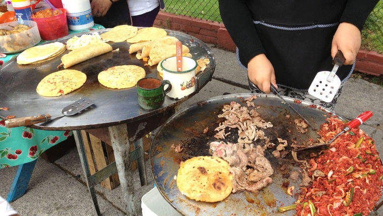 Typical street food in Mexico City.
