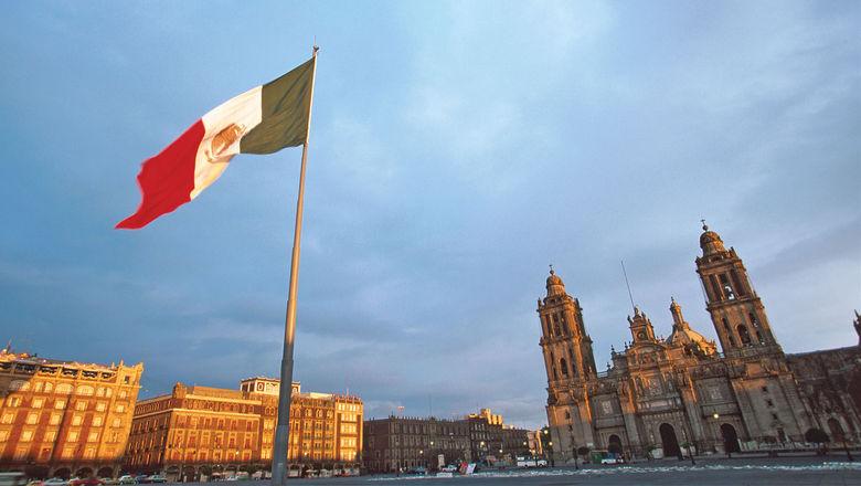Plaza de la Constitucion, or Constitution Square, in Mexico City.