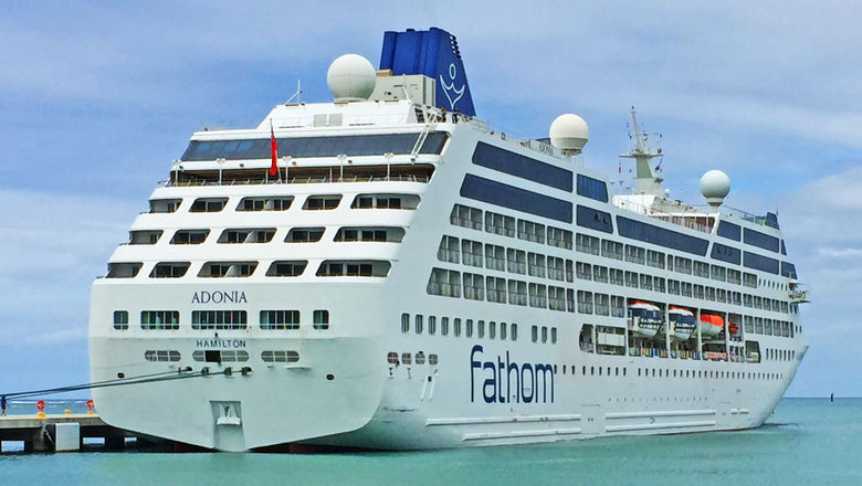 The Adonia, docked in the Dominican Republic when it sailed for Fathom.