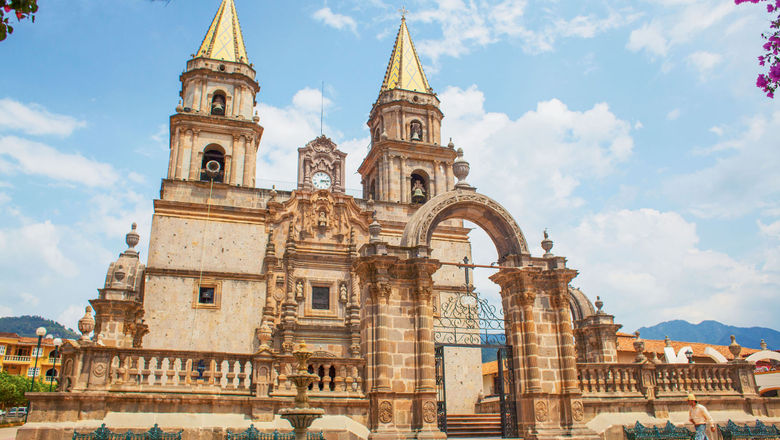 Thousands of pilgrims each year visit Our Lady of the Rosary cathedral in Talpa de Allende.
