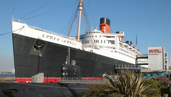 The Queen Mary has been in use off and on as a hotel in Long Beach, Calif., since 1972.
