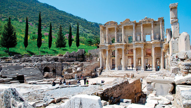 The ruins of the ancient city of Ephesus on Turkey's west coast.