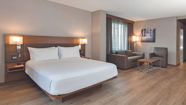 The AC Chicago has the AC Hotels brand's European minimalist design approach.