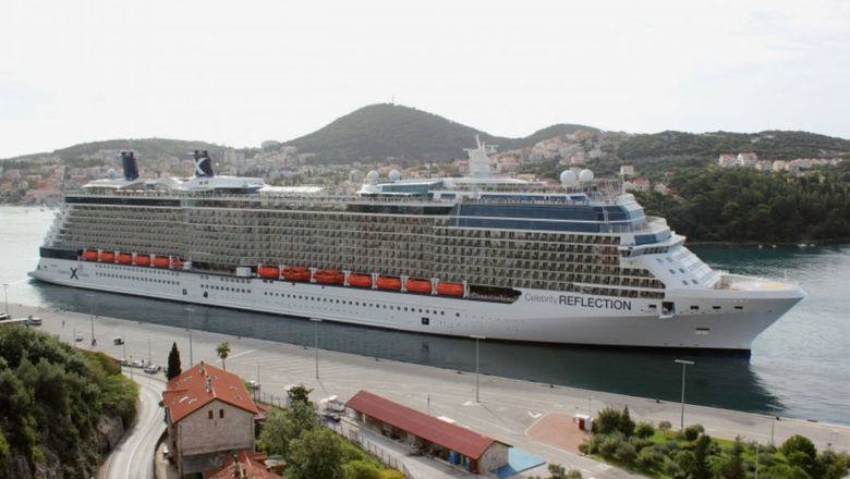 The Celebrity Reflection in Dubrovnik.
