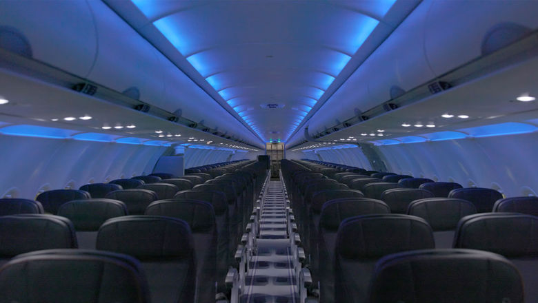 The revamped A320 cabin will have seats with two 32 inches between rows, a 2-inch decrease.