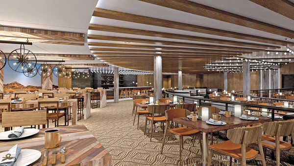 The Q Texas smokehouse on the Norwegian Bliss will have a contemporary vibe.