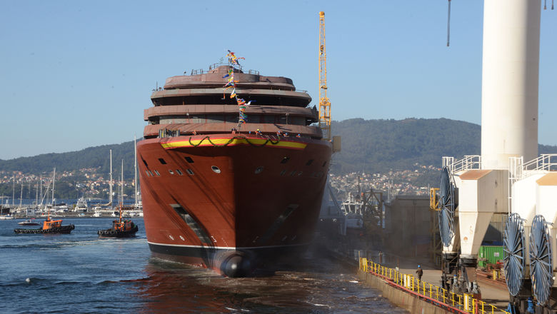 Ritz-Carlton floats out first yacht
