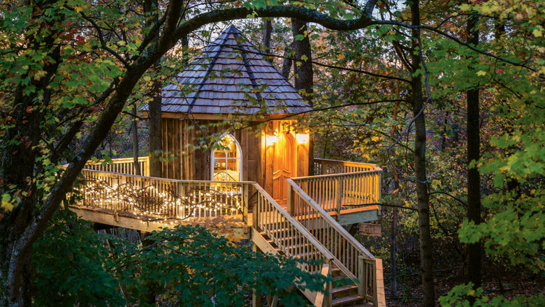 The Nest treehouse at the Mohicans resort.