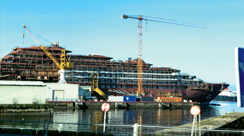 About 24 ships are slated to debut this year, but what sets this year apart is not the number but the ships themselves. They include new-to-cruise brands, an unprecedented number of expedition vessels and some of the most environmentally advanced ships at sea. Pictured, the Evrima under construction at the Hijos de J. Barreras shipyard in Vigo, Spain, in early January.