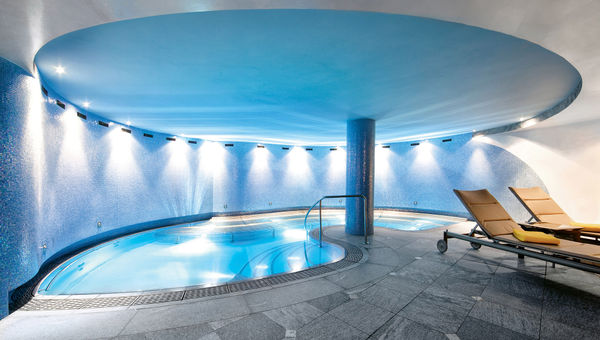 A hydrotherapy pool at the hotel's 22,000-square-foot spa.
