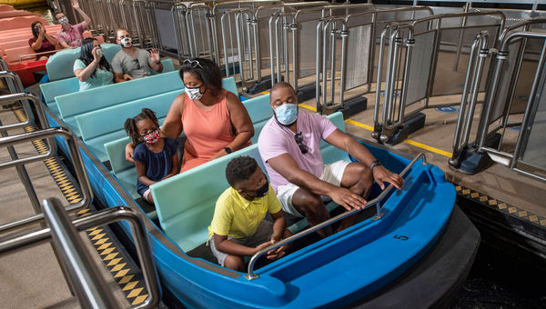Attraction boarding procedures have been modified to keep parties distanced.