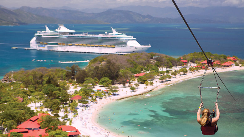 """When U.S. cruising returns, the Healthy Sail Panel report recommends a """"focus on cruises to cruise line owned-and-operated destinations,"""" such as Labadee, Royal Caribbean's private destination in Haiti."""
