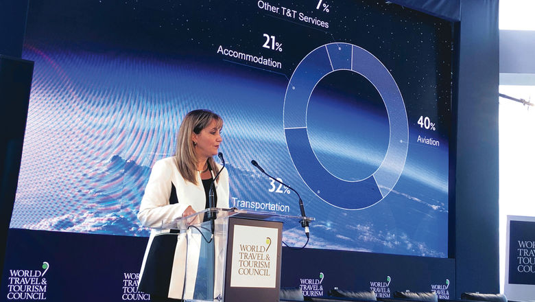 Gloria Guevara at the World Travel and Tourism Council's first Climate & Environment Action Forum last year.