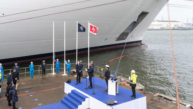 MSC Cruises executive chairman Pierfrancesco Vago and his family were on hand to receive the MSC Virtuosa at the Chantiers de l'Atlantique shipyard in Saint Nazaire, France.