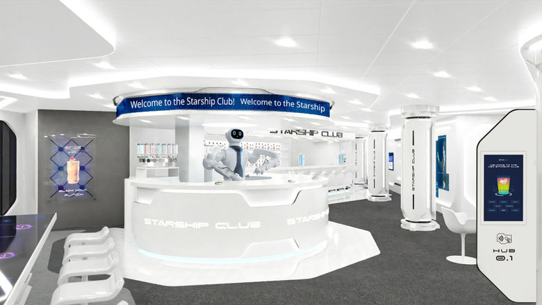 Rob the robot will tend bar at the MSC Starship Club onboard MSC's newest ship, the MSC Virtuosa, which is entering service April 16.
