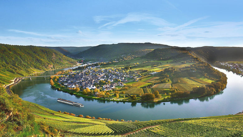AmaWaterways' new 46-night cruise will sail four ships across seven rivers, including the Moselle, pictured.
