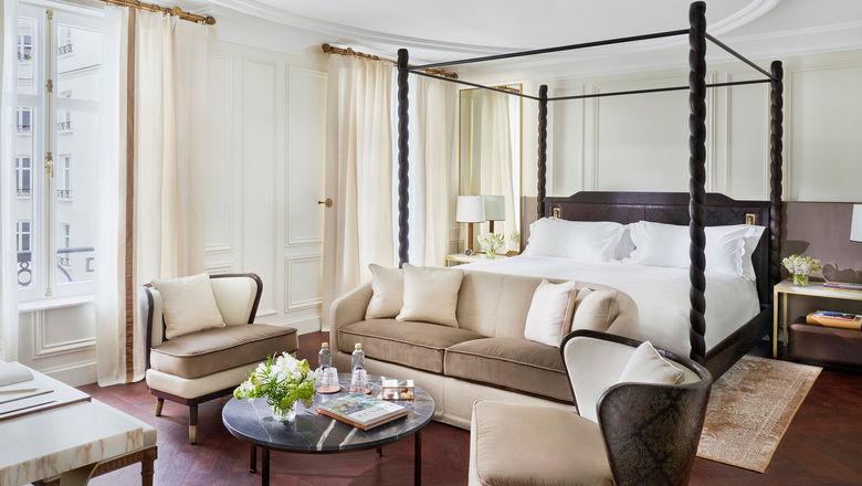 A junior suite at the Mandarin Oriental Ritz, Madrid.