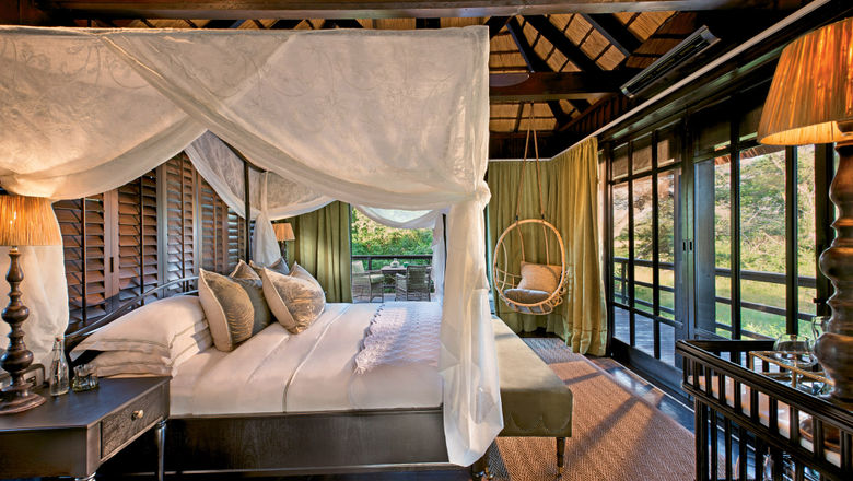 A guest suite at AndBeyond's Phinda Vlei Lodge in KwaZulu Natal, South Africa.