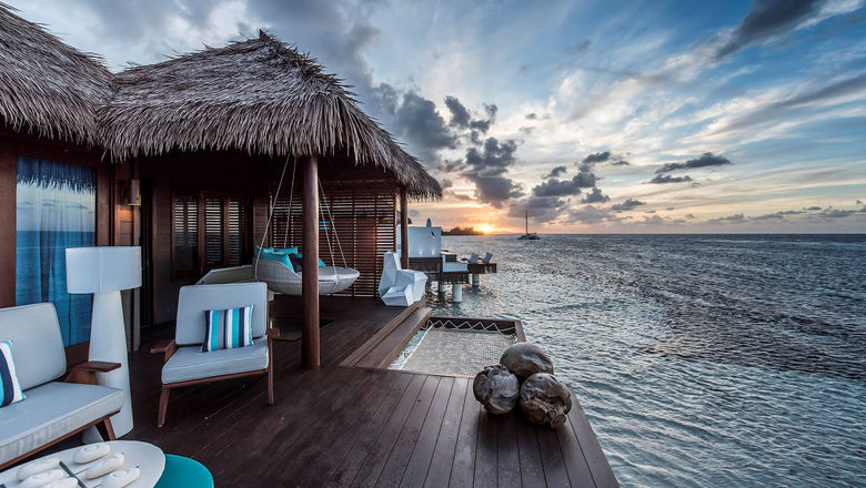 Rates for overwater suites at the Sandals Royal Caribbean start at $1,435 per person, per night.