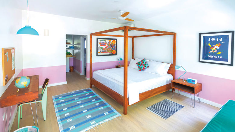 One of the 28 guestrooms at the Skylark Negril Beach Resort.