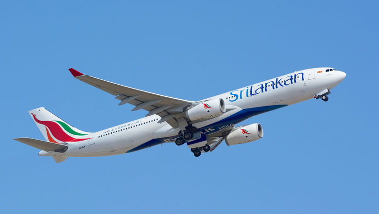 A SriLankan Airlines jet.