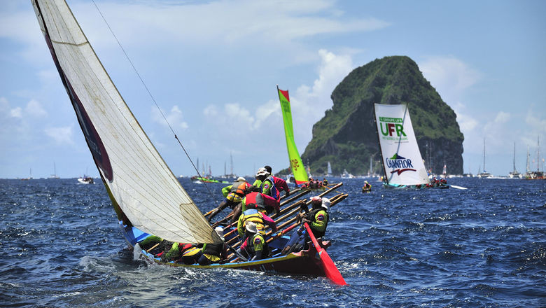 The wooden sailing vessel called a yole is the centerpiece of Martinique's annual sailing regatta.