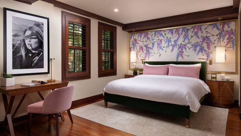 A newly redesigned room at the Brazilian Court Hotel in Palm Beach, Fla.