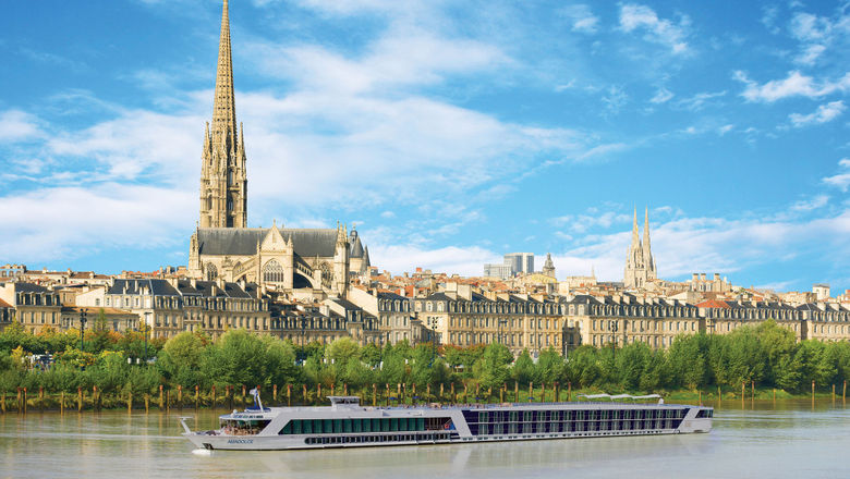 AmaWaterways' AmaDolce in Bordeaux, France.