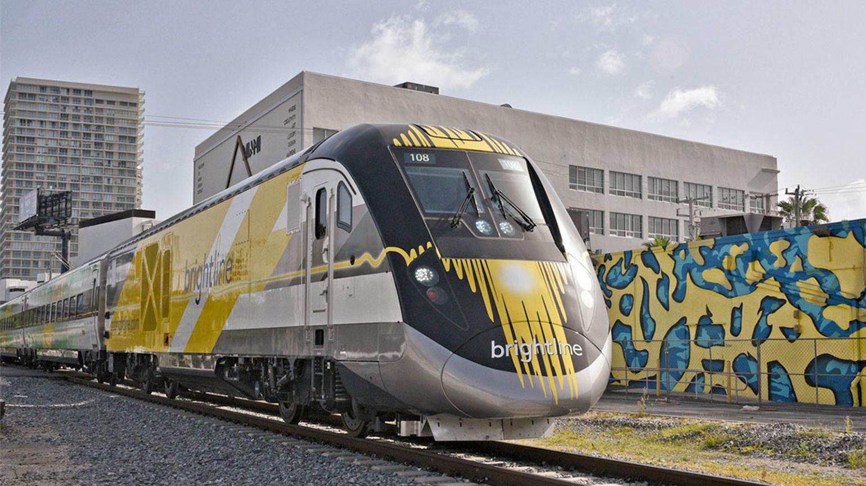 Improved Brightline high-speed train restarting in Florida