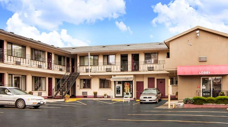 """Rodeway Inn Convention Center Exterior. Images powered by <a href=""""http://web.iceportal.com"""" target=""""_blank"""" rel=""""noopener"""">Ice Portal</a>."""