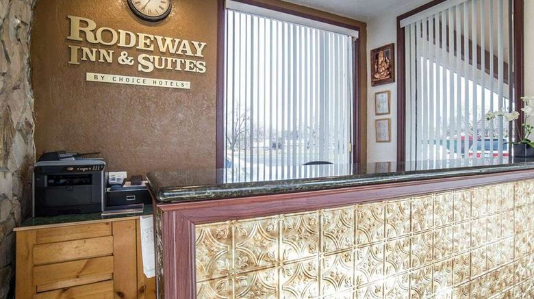 """<b>Rodeway Inn & Suites Lobby</b>. Images powered by <a href=""""https://iceportal.shijigroup.com/"""" title=""""IcePortal"""" target=""""_blank"""">IcePortal</a>."""