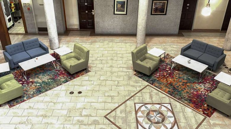 """Quality Inn  and  Suites Downtown North Lobby. Images powered by <a href=""""http://web.iceportal.com"""" target=""""_blank"""" rel=""""noopener"""">Ice Portal</a>."""