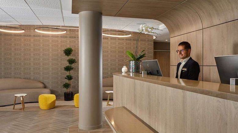 """Hotel Auteuil Tour Eiffel Lobby. Images powered by <a href=""""http://web.iceportal.com"""" target=""""_blank"""" rel=""""noopener"""">Ice Portal</a>."""