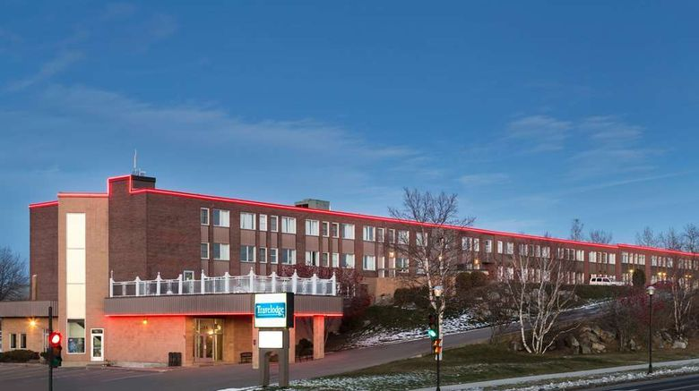 """Travelodge Baie Comeau Exterior. Images powered by <a href=""""http://web.iceportal.com"""" target=""""_blank"""" rel=""""noopener"""">Ice Portal</a>."""