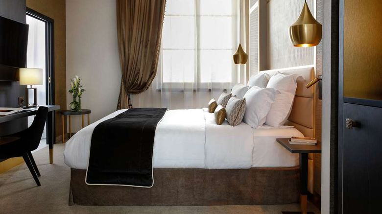 """Niepce Paris Hotel, Curio Collection Room. Images powered by <a href=""""http://web.iceportal.com"""" target=""""_blank"""" rel=""""noopener"""">Ice Portal</a>."""
