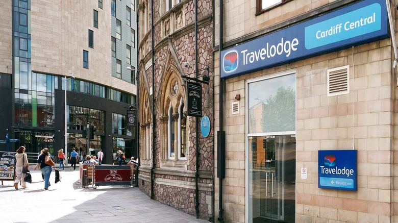 """Travelodge Cardiff Central Exterior. Images powered by <a href=""""http://web.iceportal.com"""" target=""""_blank"""" rel=""""noopener"""">Ice Portal</a>."""